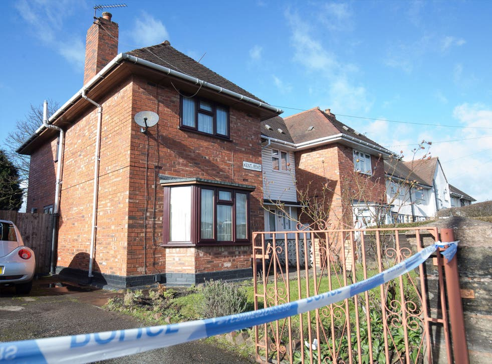 The house remains cordoned off to allow forensic experts to conduct an examination