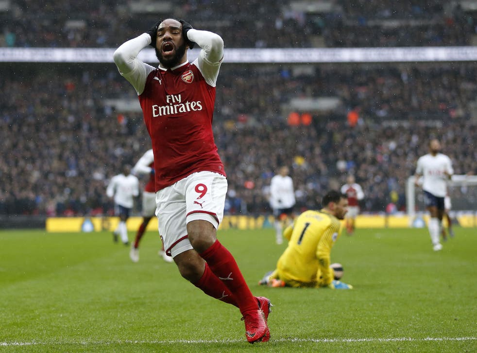 Lacazette spurned a fine chance to level the score in injury time against Spurs