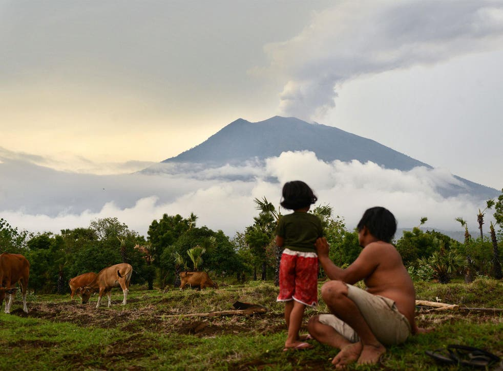 Indonesian authorities first warned Mount Agung may erupt in September last year