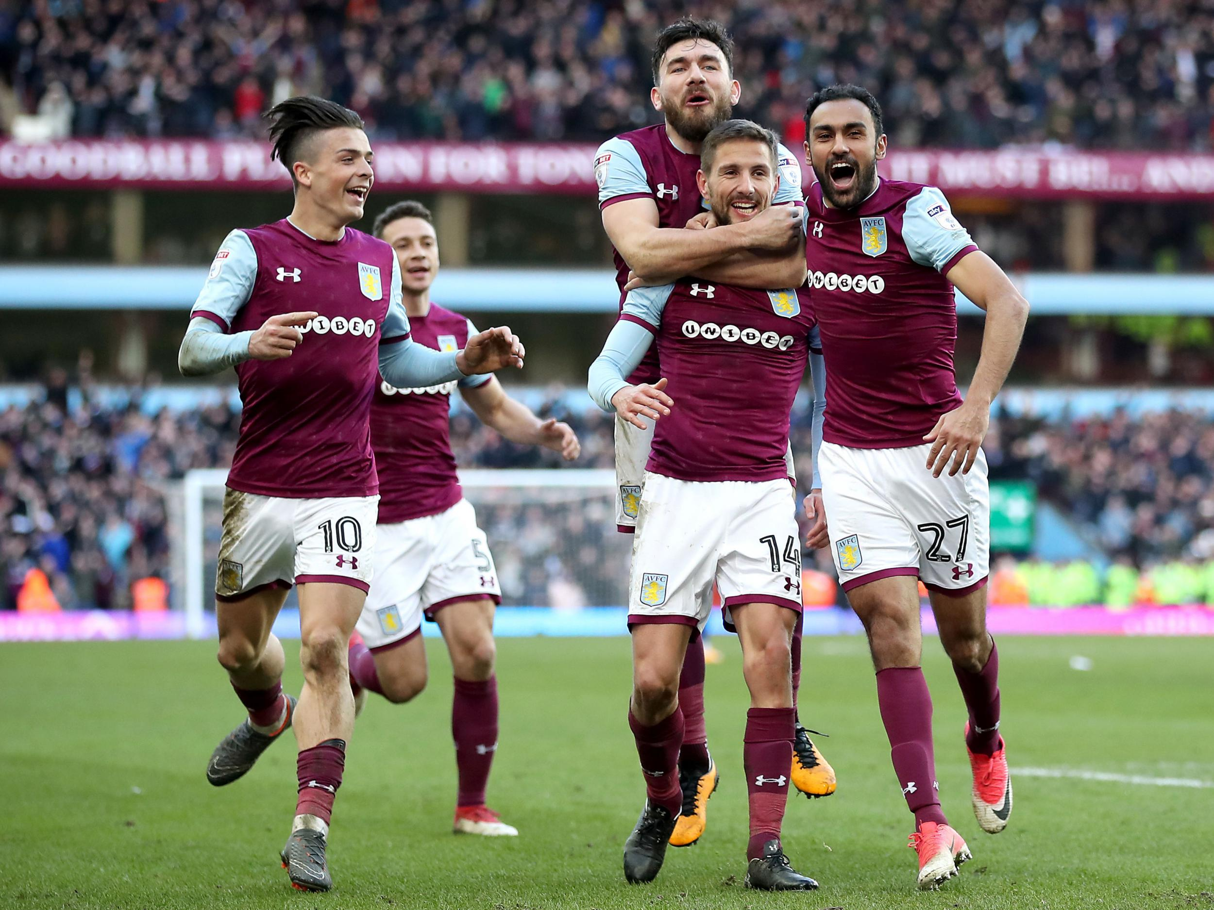Aston Villa extend unbeaten league run against arch-rivals Birmingham City to move up to second