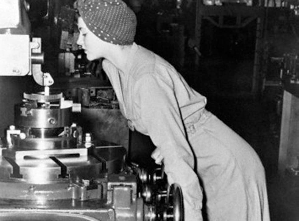 Parker Fraley was 20 when she was photographed while working at a lathe in a California naval air station