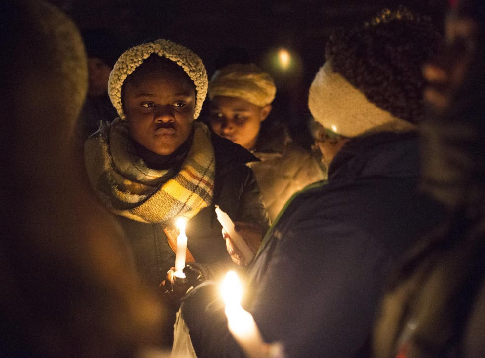 A candlelit vigil held for missing Mujey Dumbuya held on 1 February
