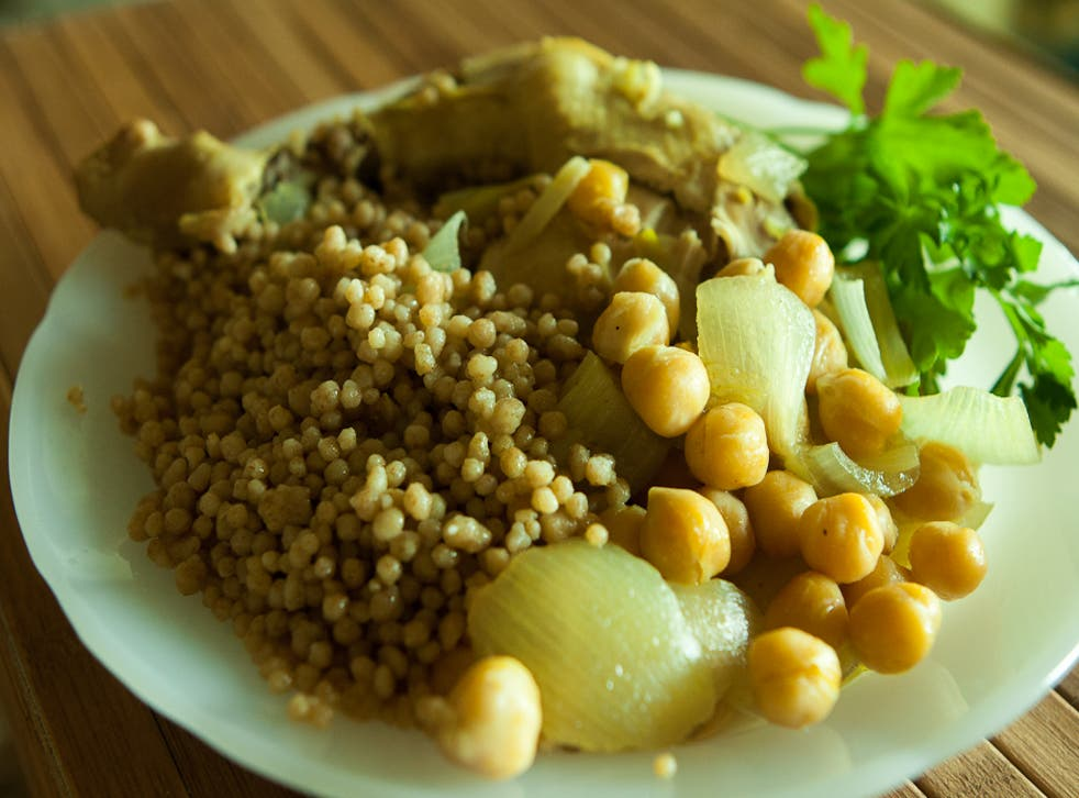 Maftoul is a traditional Palestinian dish