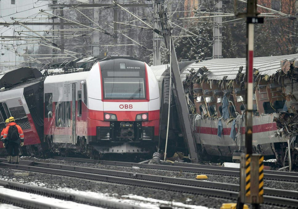 Image result for Two seriously injured as Austrian train derails