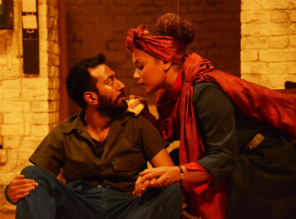 Naeem Hayat as Aurangzeb and Angela Griffin as Nourmahal in 'The Captive Queen'