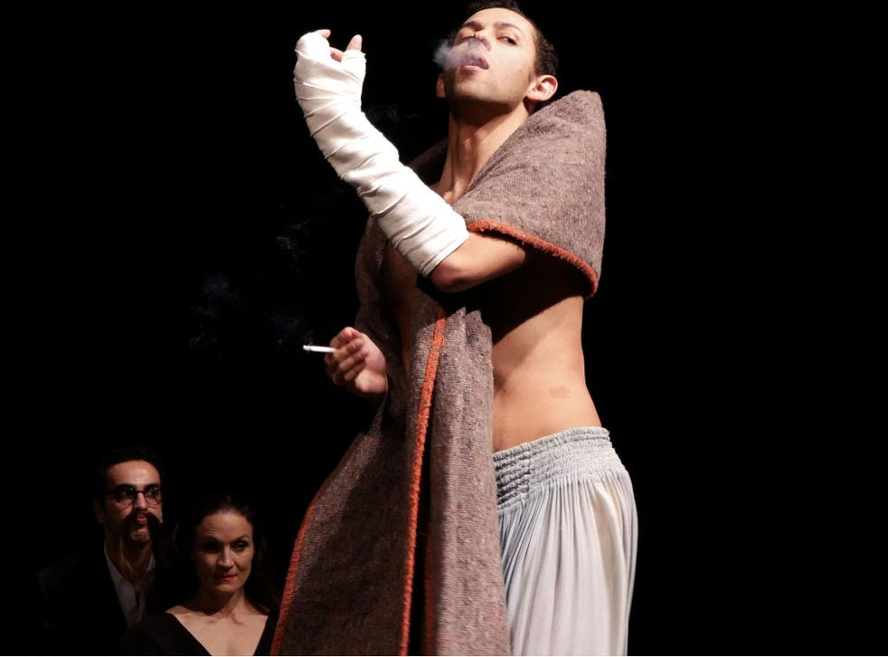 A performer in 'Viktor' – a piece inspired by the city of Rome