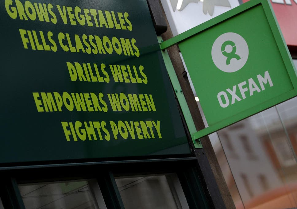 organisational structure of oxfam uk