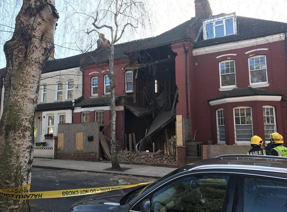 A terraced house collapsed in West Hampstead leaving a gaping hole in a street where homes fetch over £1.5 million