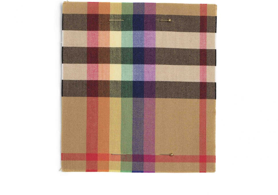 Burberry unveils new rainbow check print in support of LGBT+ charities.   71c11a729ee