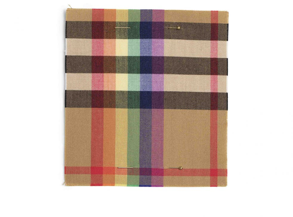 The new rainbow check is dedicated to and in support of LGBT youth (Burberry)
