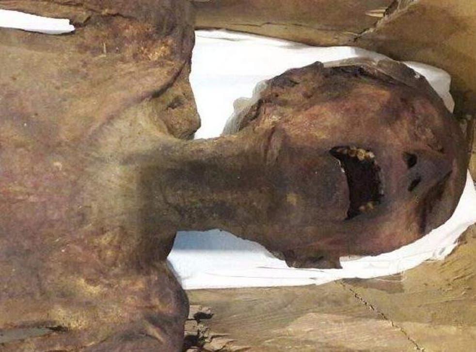 The 'screaming mummy' is thought to be the corpse of Prince Pentewere, a son of the pharaoh Ramses III who plotted to kill his father