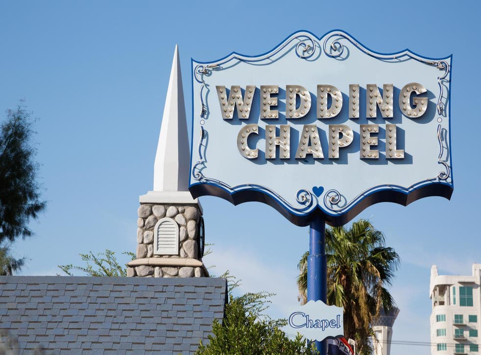 A wedding chapel in Las Vegas, Nevada