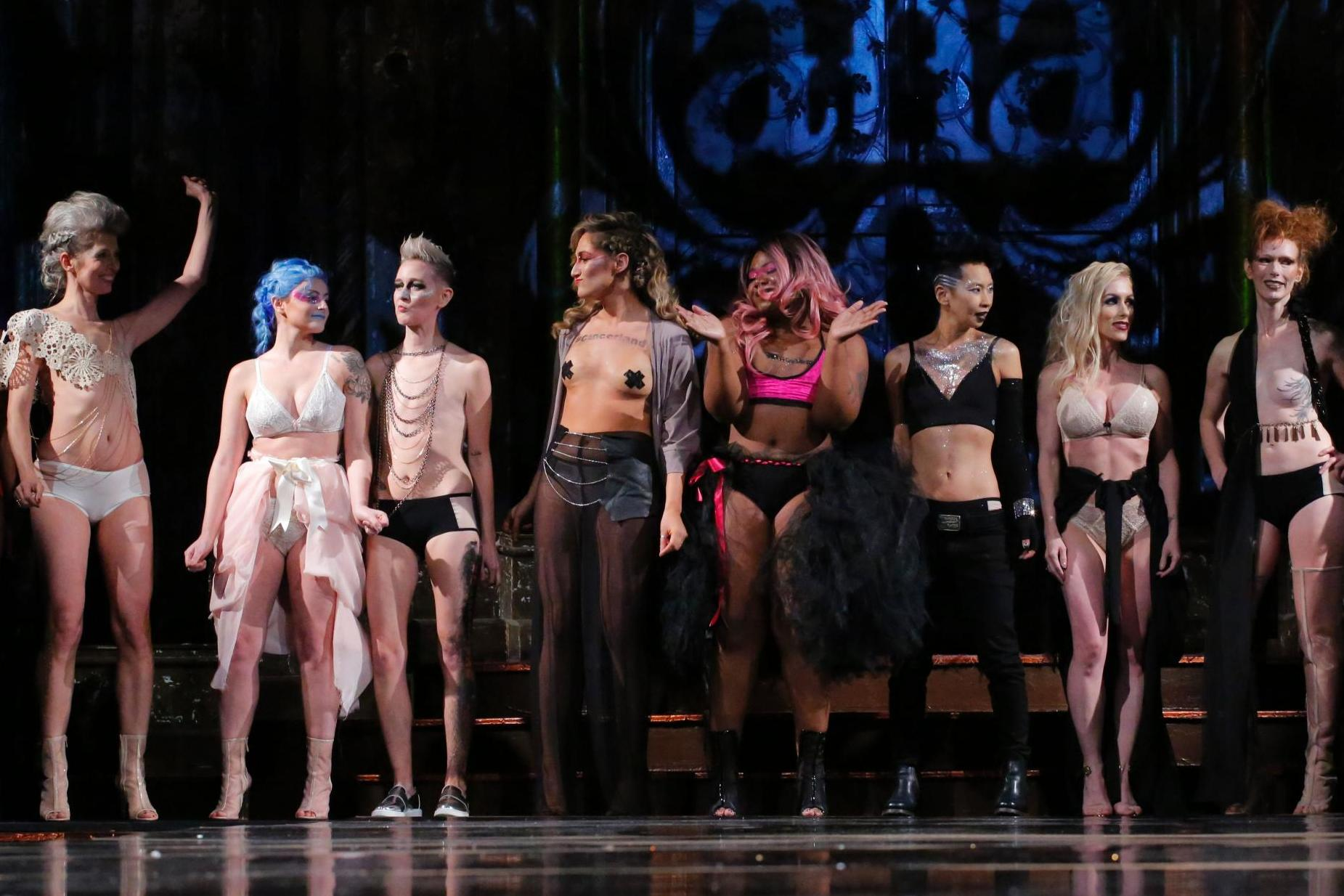 Breast cancer survivors bare surgical scars at New York Fashion Week to model lingerie for mastectomy patients