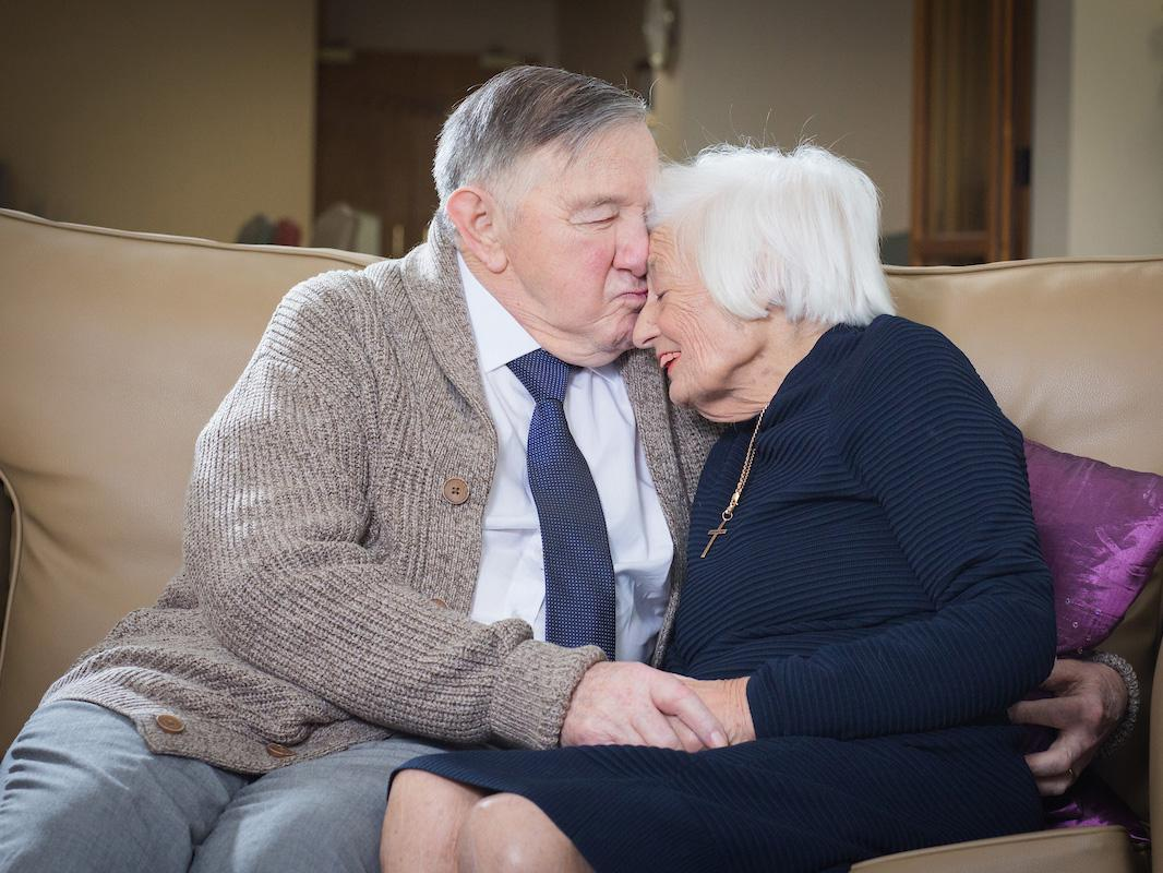 The couple celebrating their 60th Valentine's Day together