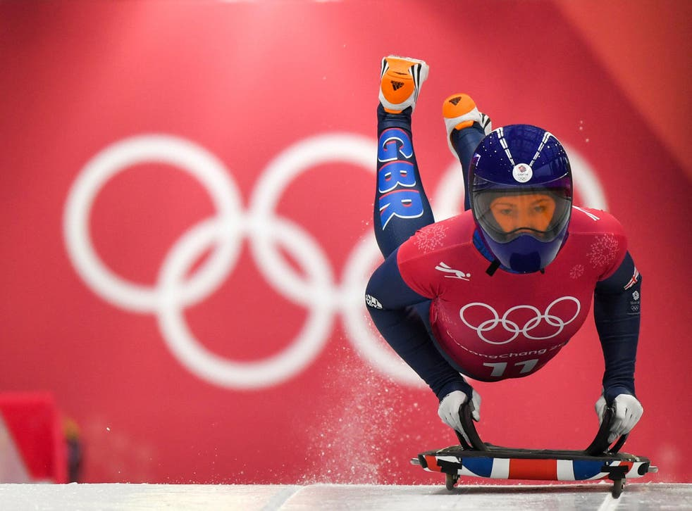 Lizzy Yarnold shows her medal potential in training