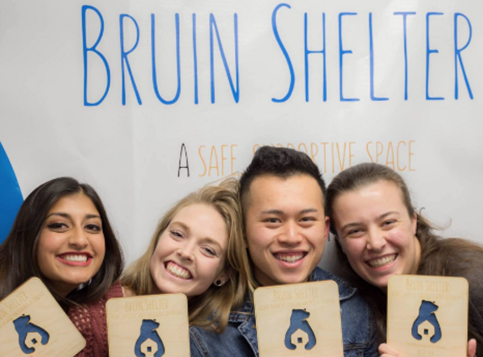 Volunteers at the student-run homeless shelter Students for Students, formerly known as the Bruin Shelter, pose for a photo.