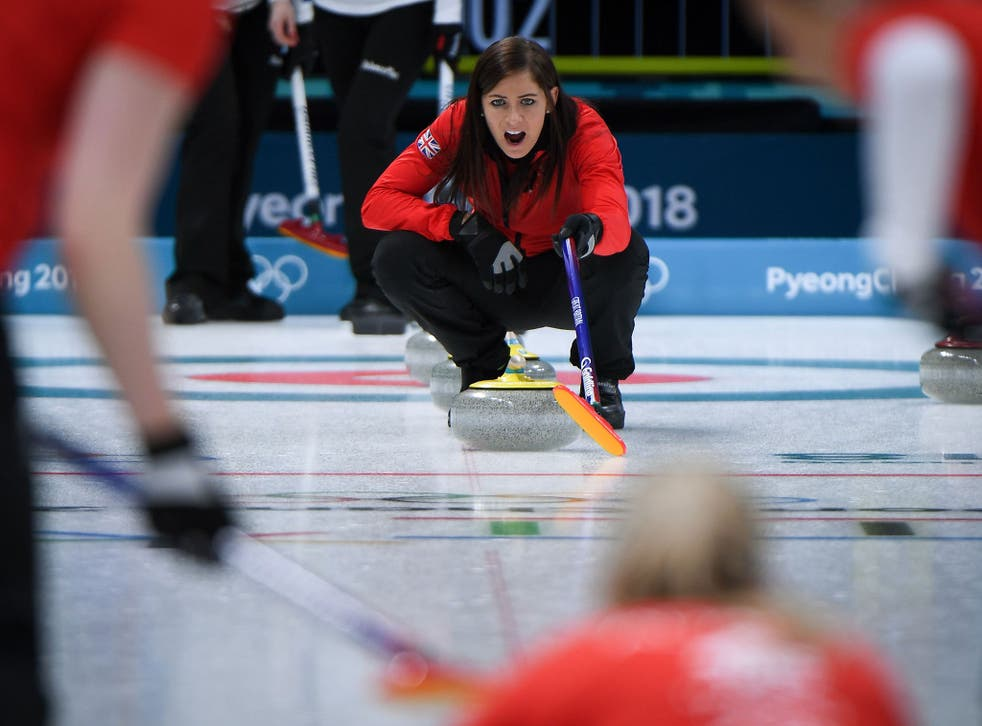 Eve Muirhead in action for Team GB on Thursday night