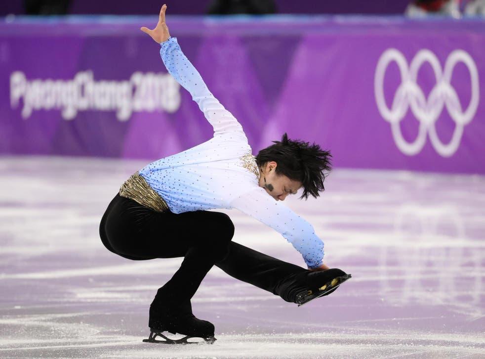 Yuzuru Hanyu competing at the Pyeongchang Games