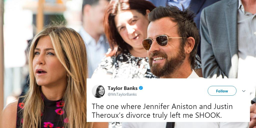 Jennifer Aniston is single again and everyone is pointing