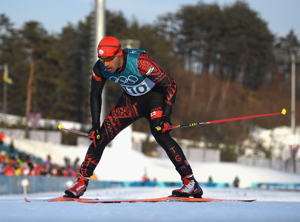 Pita Taufatofua crossed the line 114th of 118 competitors