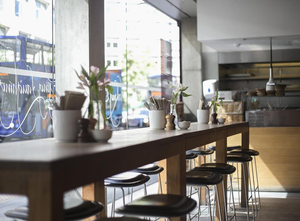 Table Cafe has the feeling of a grown-up Pret A Manger