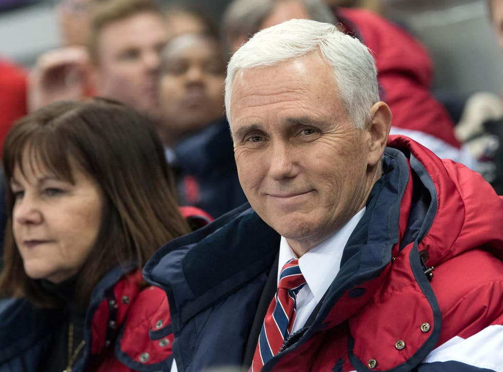 Pence is in South Korea leading the US delegation