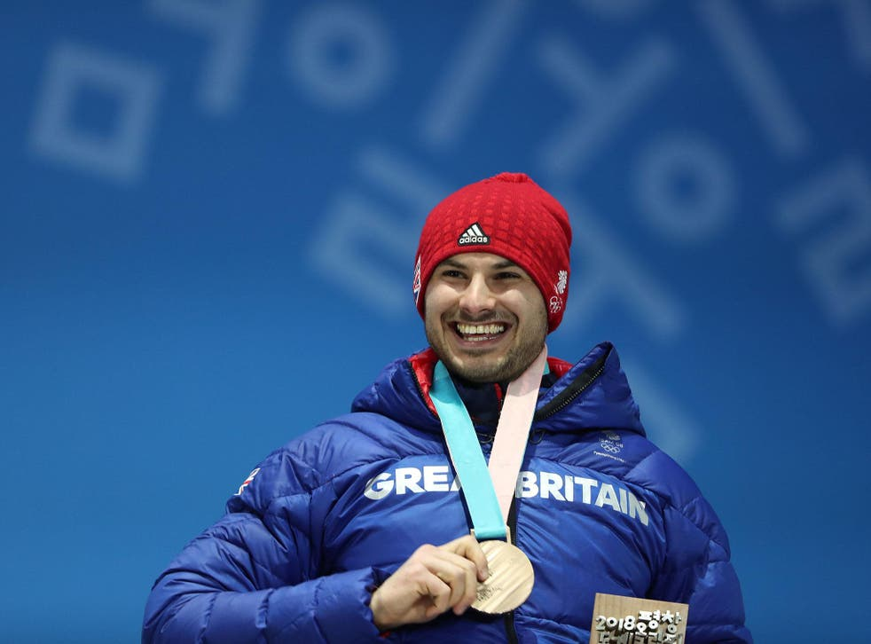 The Briton claimed a surprise bronze in the men's skeleton