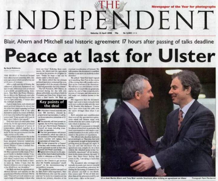 Good Friday Agreement What Was The Peace Deal Reached In Northern