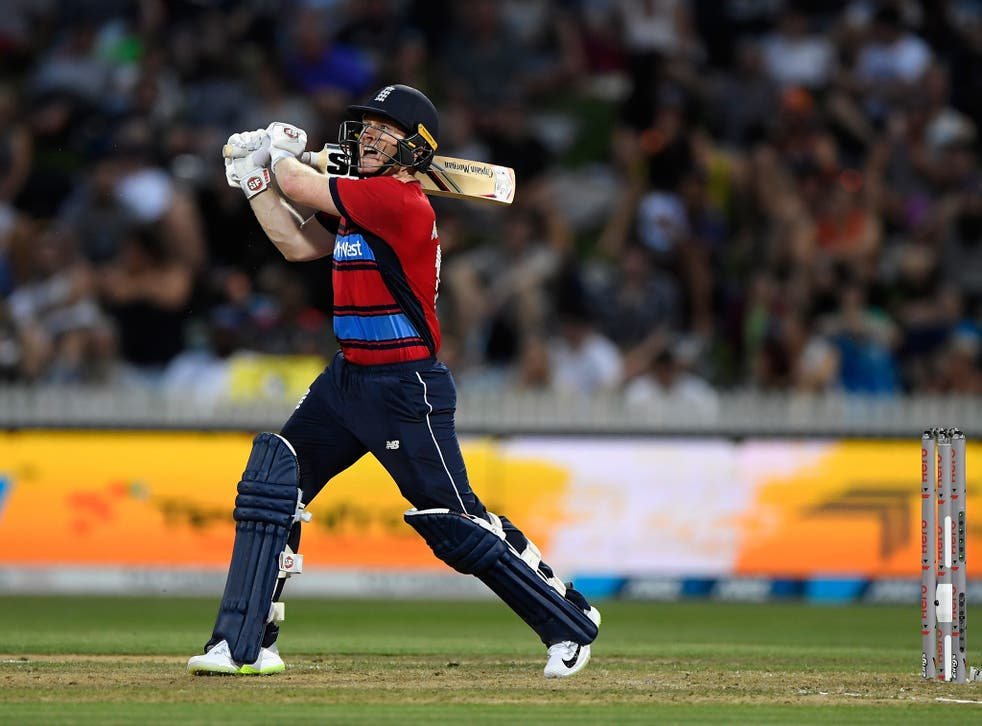 Eoin Morgan guided his England side to victory in their final T20 game against New Zealand