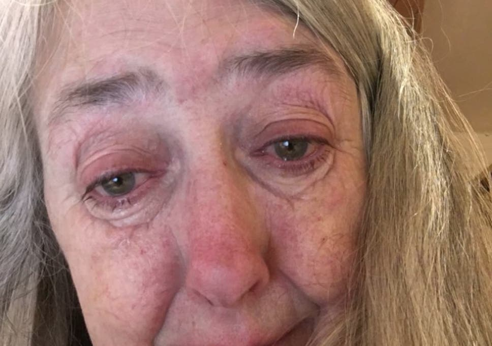 Mary Beard tweeted a photo of herself and said she was 'crying right now'