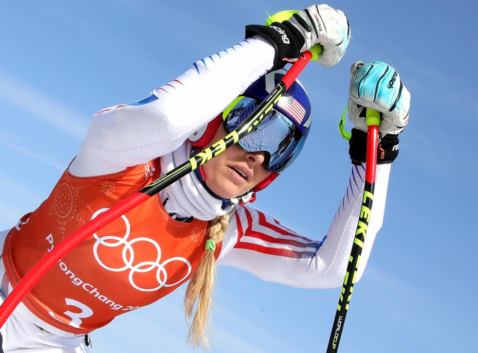 Lindsey Vonn made a mistake which cost her a medal in the super-G