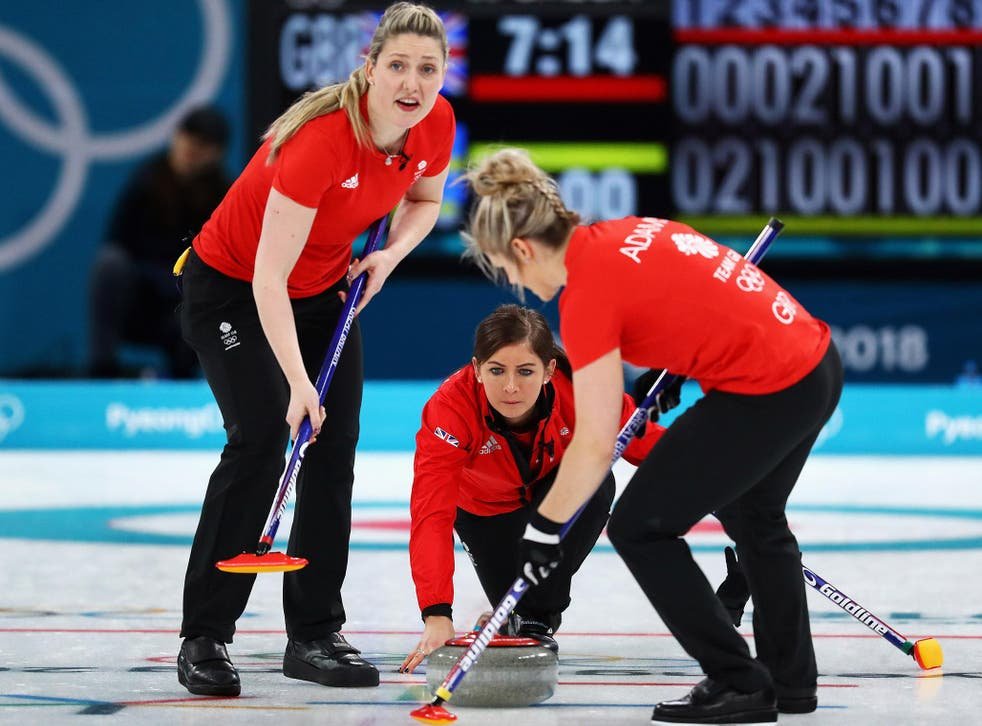 Eve Muirhead, centre, was penalised with Britain's final stone