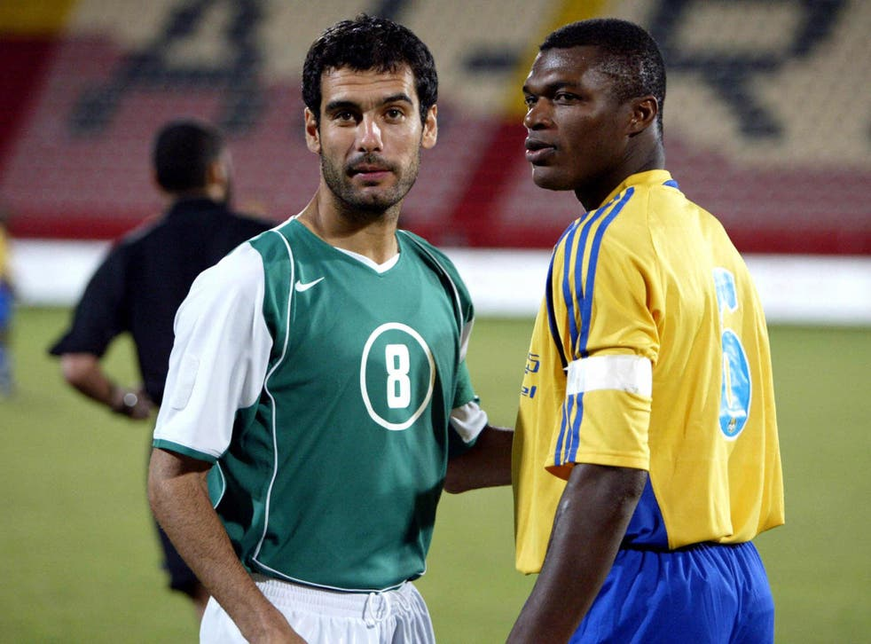 Wigan tried to sign Pep Guardiola after he played for Al-Ahli, pictured