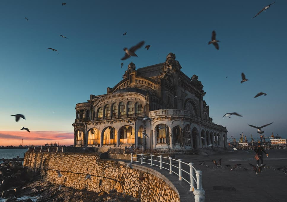 stunning photographs show eerie abandoned romanian casino that once
