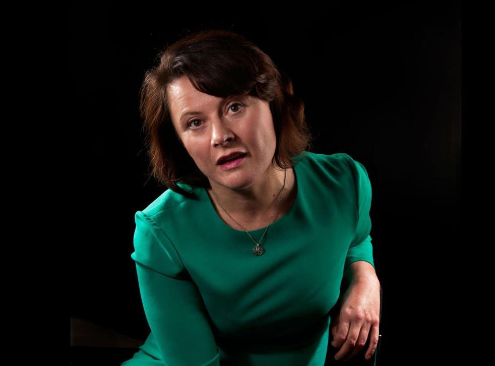 Pouncing intelligence, caustic wit and angry passion: the play's Bafta-winning writer and star, Monica Dolan
