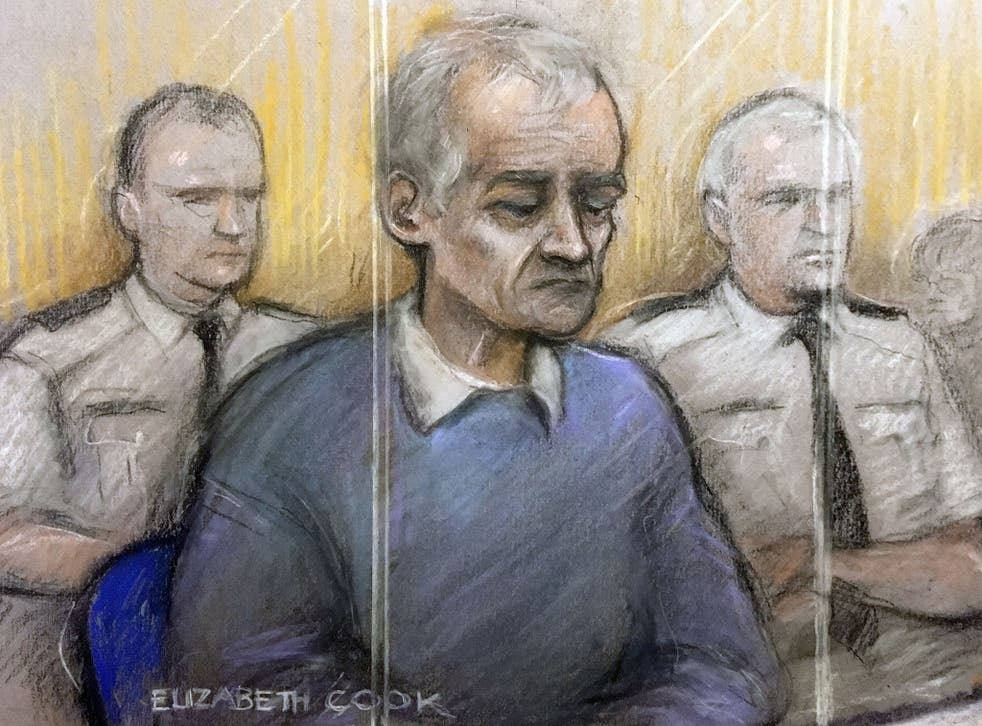 'Devil incarnate': Barry Bennell during his sentencing at Liverpool Crown Court in 2018