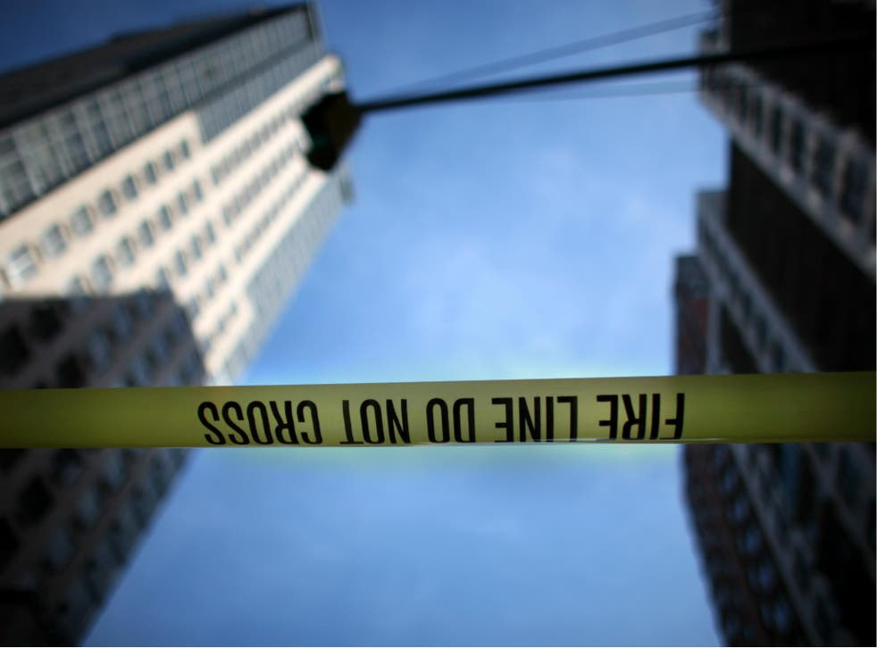FDNY has cordoned off the sidewalk near a building where a piece of fire escape fell and killed a man