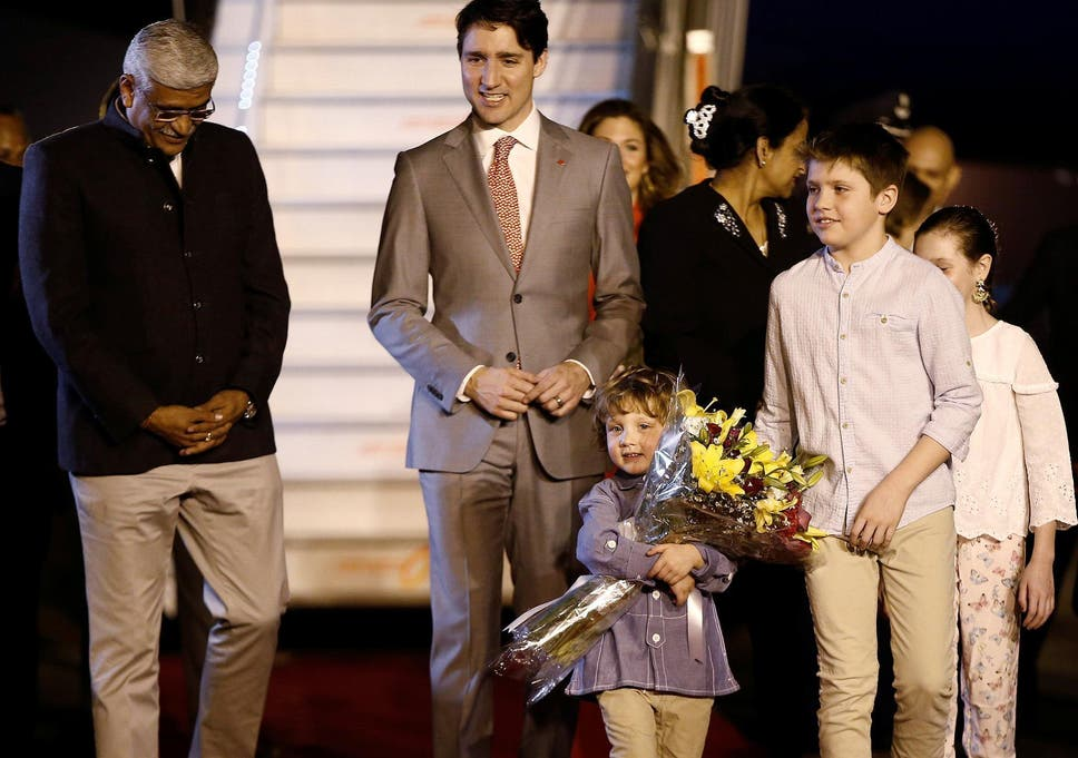 Justin Trudeau And His Family Are Welcomed By A Junior Minister On Arrival In India
