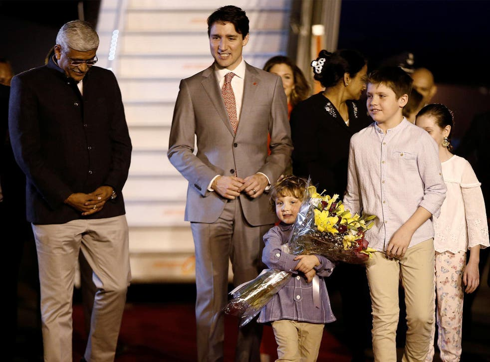 Justin Trudeau was greeted by a junior agricultural minister when he arrived in India