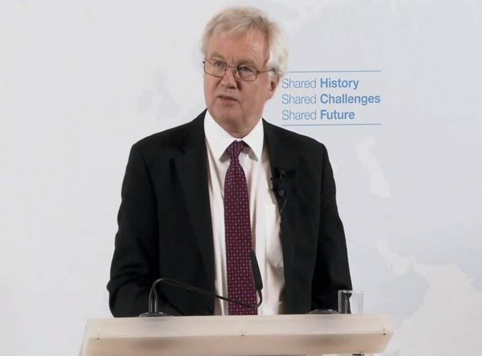 David Davis delivered yet another Brexit speech in Vienna