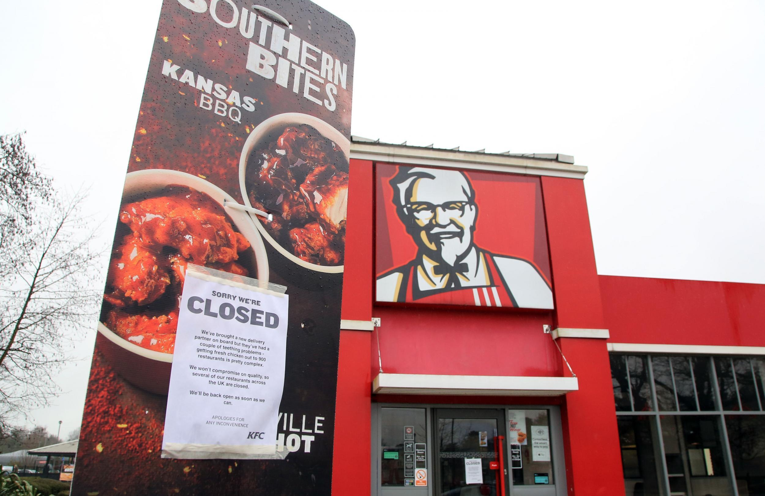KFC restaurants could remain closed for \'remainder of the week\' due ...