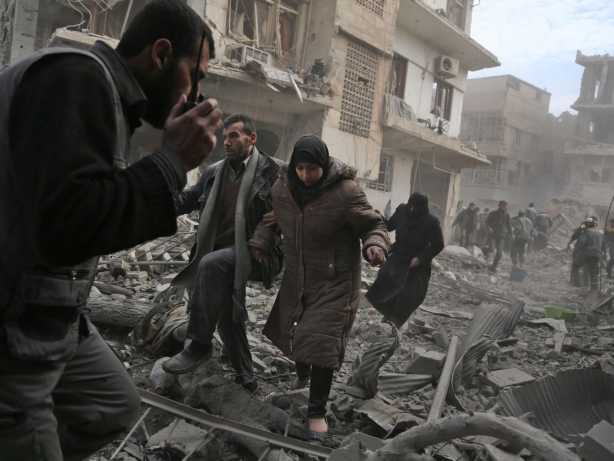 Syria: Bombs rain on Eastern Ghouta for third day as death toll rises above 200