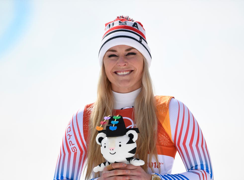 Lindsey Vonn claimed the bronze medal in the women's downhill