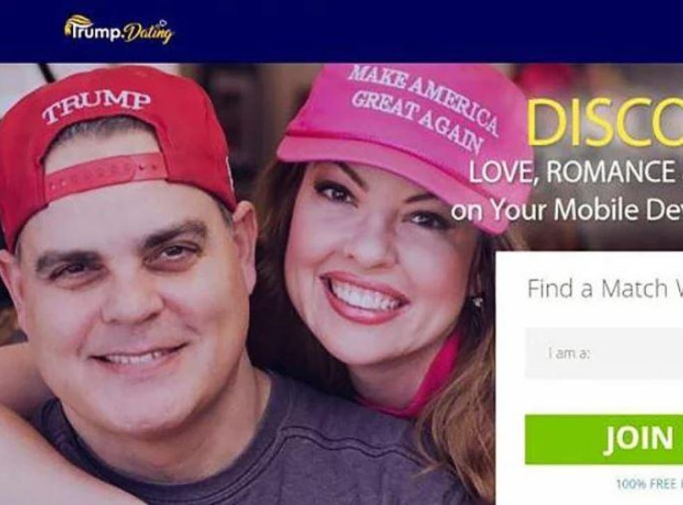 The dating site's creators said they were keen to help those who had struggled with dating since Mr Trump won the 2016 presidential elections