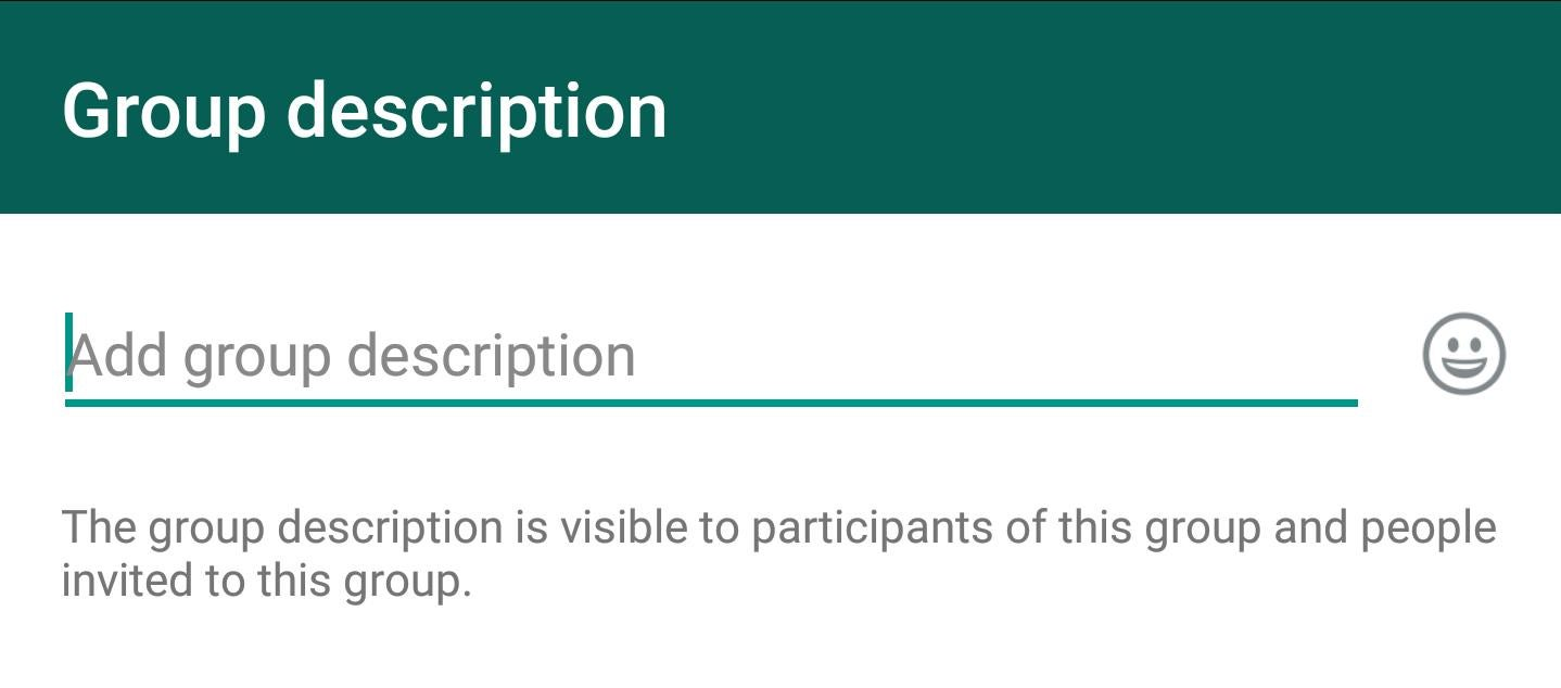 WhatsApp update lets you write a description for your group chat