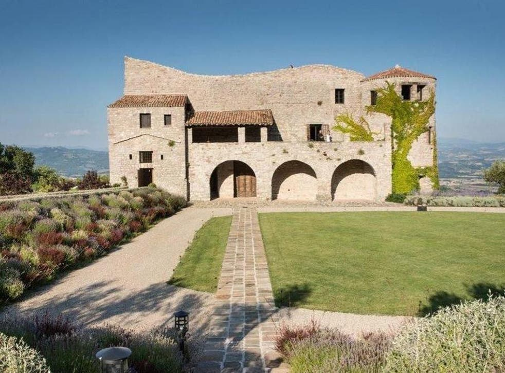 The winning bidder – and their friends – will enjoy panoramic views from an eight-bedroom castle near Perugia