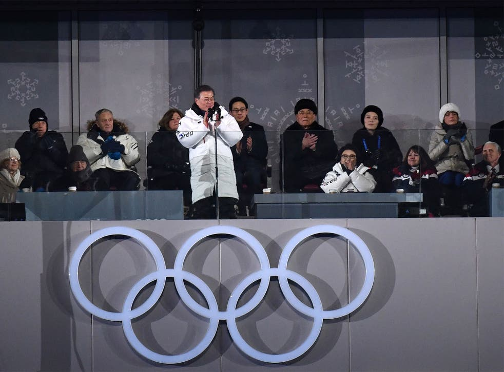 There were baby steps towards peace on the peninsula at the Opening Ceremony