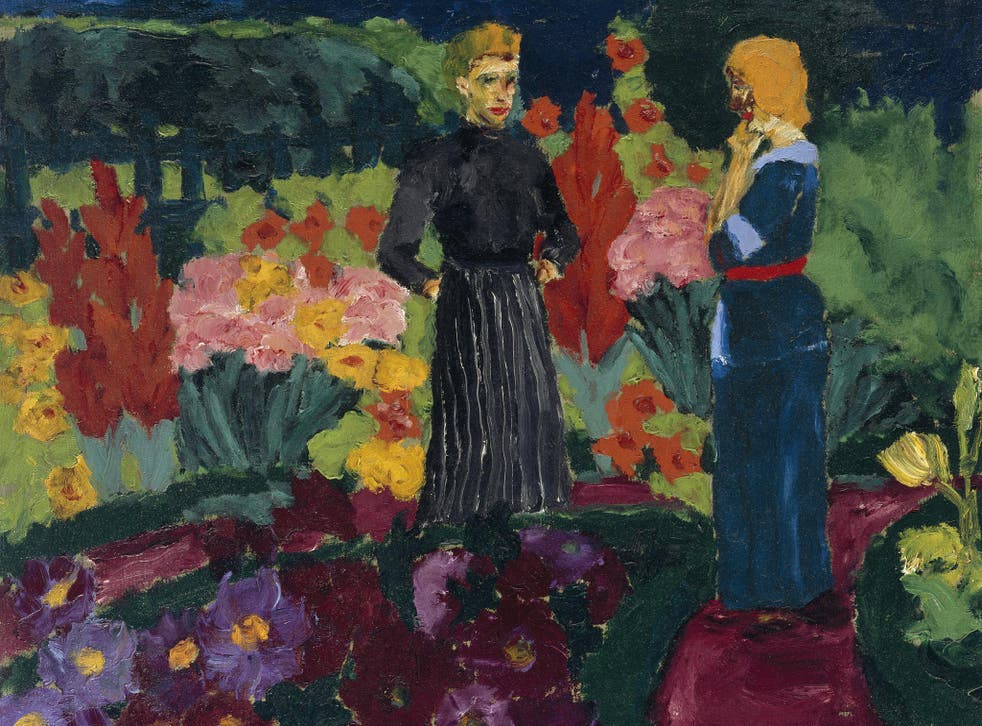 'Two Women in the Garden' was banned by the Nazis in 1937 – even though the painter himself was a Nazi