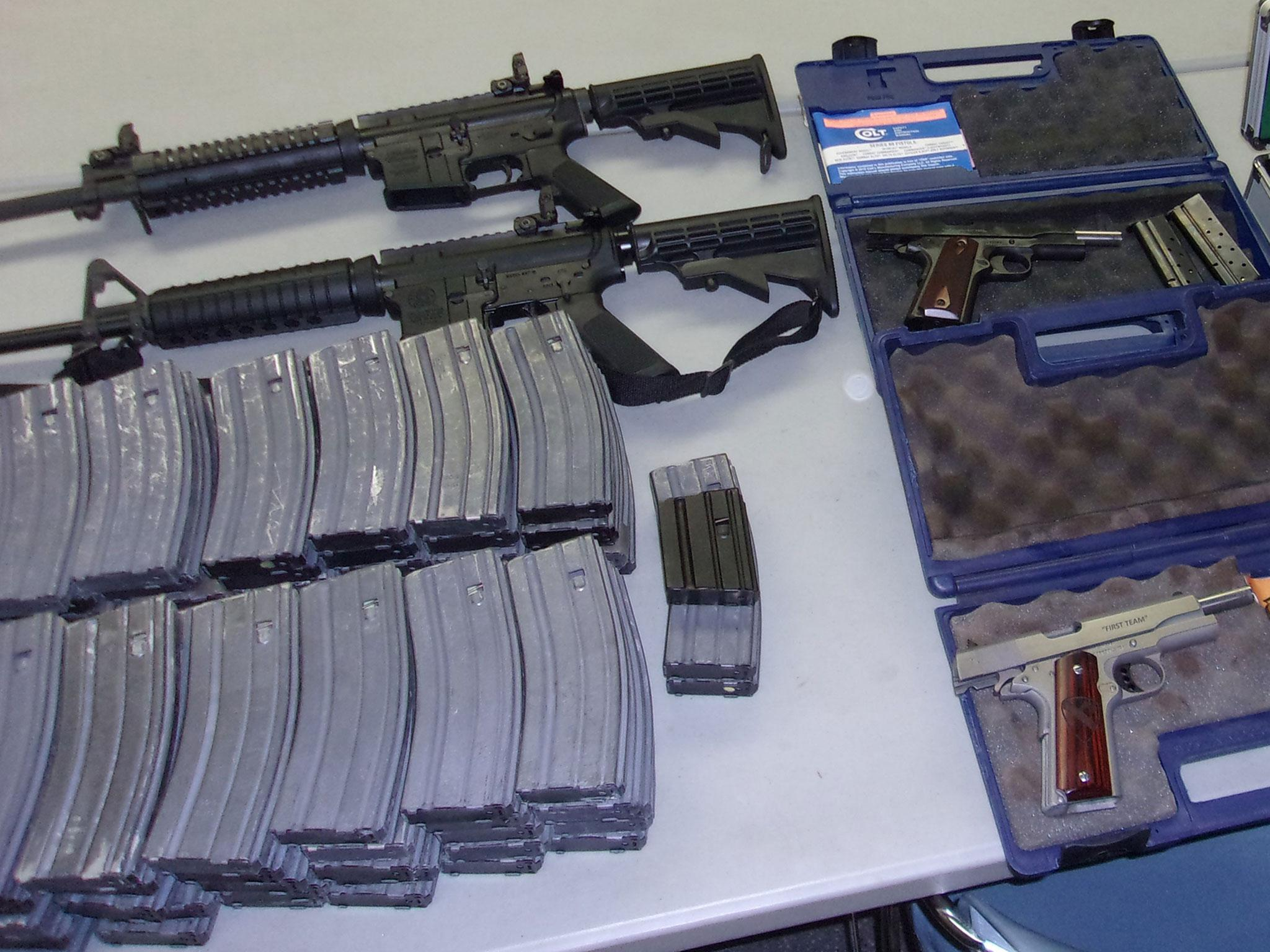 California student arrested with two assault rifles and 90 magazines after security guard overhears shooting threat