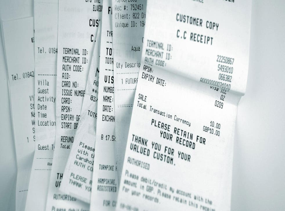 <p>Most receipts have been found to contain BPA, a toxic chemical</p>